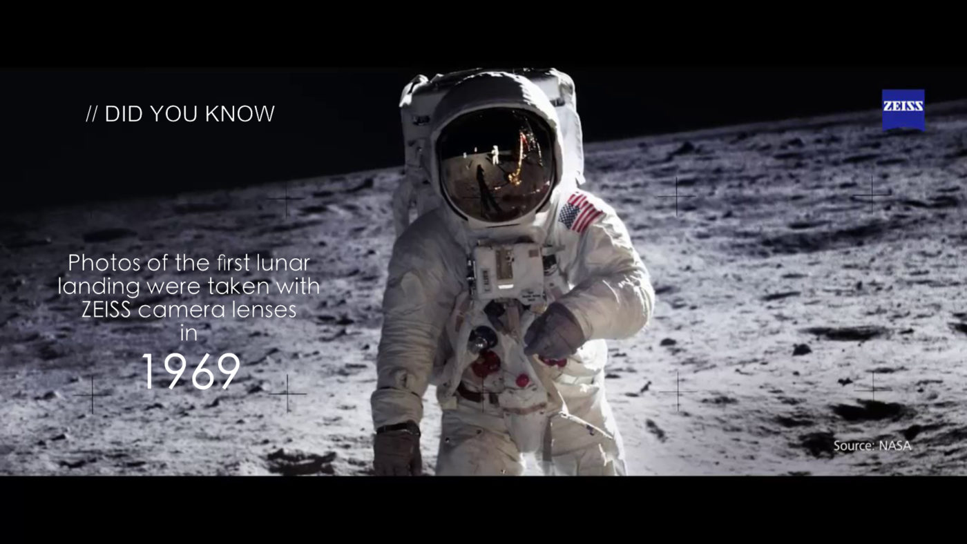 what is zeiss and zeiss in the moon landing